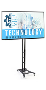 Portable digital signage with 4 locking caster and 49 inch tv