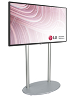 Indoor digital signage with durable aluminum commercial base