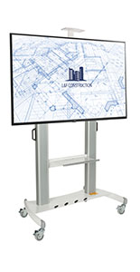 Stand alone digital signage set with built-in handle for easy mobility