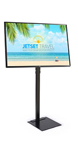 Digital sign package with tilting mounting bracket