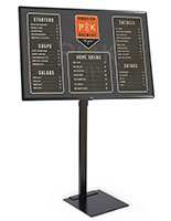All in one digital sign with tilting and swiveling bracket