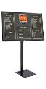 All in one digital sign with 90 pound weight capacity