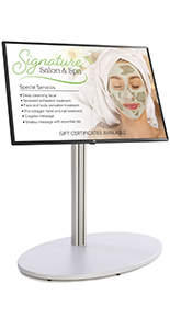 Digital directory stand for trade show booths