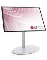 All in one digital sign stand with adjustable tilting screen mount