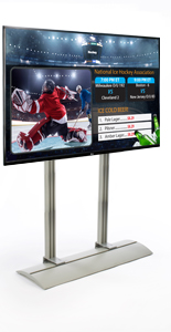 Digital Signage Package with Dual Column Stand