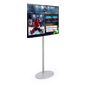 "Black 49"" TV Digital Signage with Stand"