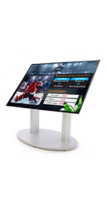 Silver Dual Column Stand for Digital Signage Solution