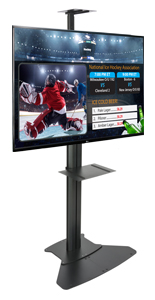 "49"" LGTV with Stationary Stand Digital Directory Set"