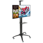 Mobile Digital Signage Stand w/ 4 Outlets