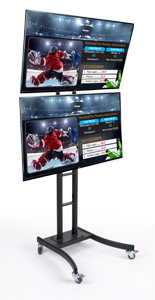 Dual Vertial TV Mount Digital Signage Tower
