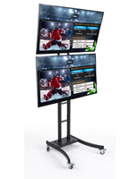 "(2) 55"" Dual E-Poster Stand"
