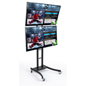 "(2) 55"" LG Dual E-Poster Stand"