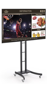 Mobile Digital Sign Monitor for Trade Shows