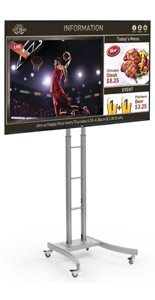 Mobile Digital Sign Station with Integrated Media Player