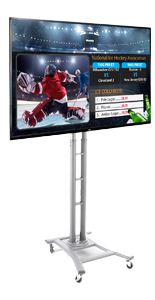 Portable Silver Stand Digital Media Signage Bundle