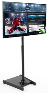 Rolling Stand with TV for Digital Signage