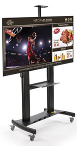 All-in-One Digital Sign Stand, Integrated Media Player