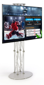 "49"" LG TV on Silver Stand Digital Signage Appliance Bundle"