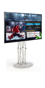 "55"" LG Monitor Electronic Signage Stand"