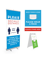 Pre-printed sign display bundle