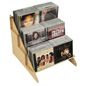 Wood CD/DVD Stand Stores Flat