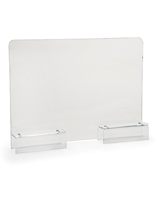 24 x 16 clear acrylic cubicle panel extender