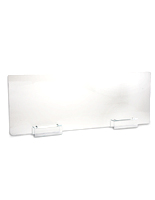 48 x 16 clear acrylic cubicle extender