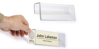 Acrylic cubicle name playe hangers