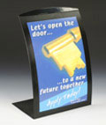 Black Curved Sign Stand