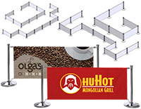 Custom café barrier for restaurants