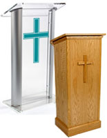 custom printed church pulpits