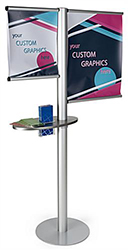 Multi-graphic banner stand