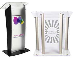 Custom-Printed Acrylic Podiums