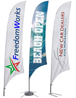 Custom Print Feather Flags