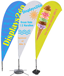 Custom print teardrop flags