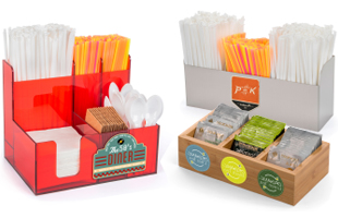 Custom printed condiment caddies