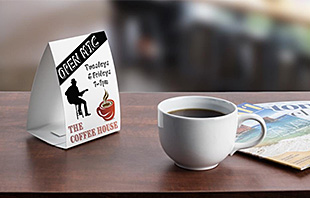 Custom Printed Paper Table Tents