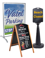 Sidewalk Signs with Custom-Printed Graphics