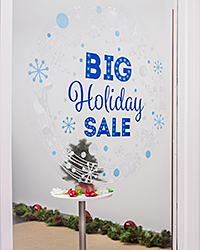 Custom Printed Storefront Window Cling
