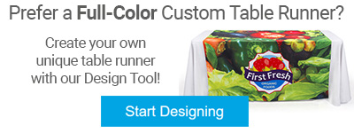 Custom printed table runner design tool