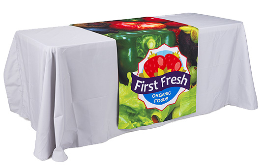 Table runners with dye-sublimated printing offer out-of-this-world color reproduction