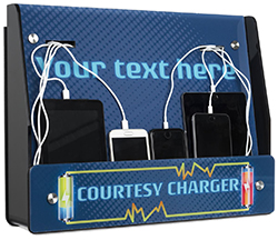 custom text wall mounted charging kiosk