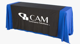 Table Runners with Custom Vinyl Graphic