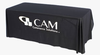 Table Covers with Custom Vinyl Graphic