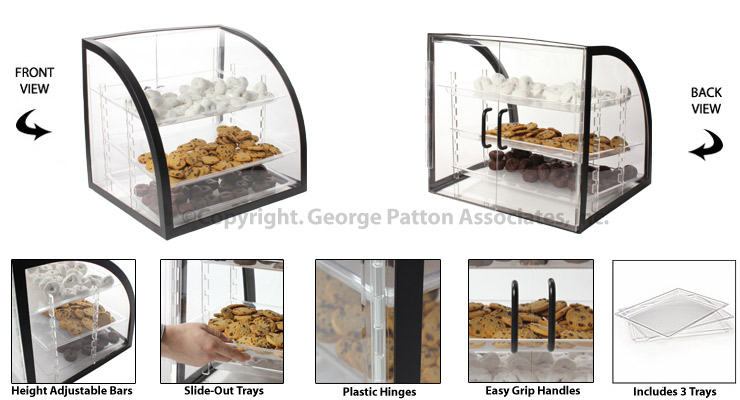 Countertop Bakery Display Cases : cases countertop acrylic cases pastry display cases countertop acrylic ...