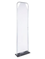 24 inch x 90 inch personal safety partition with user-friendly assembly