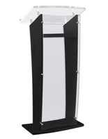 Clear replacement panel for CVWD series lecterns with shatterproof  acrylic design