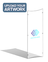 Full color custom UV printed clear replacement panel for CVWD series lecterns