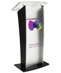 Acrylic Printed Public Speaking Stand