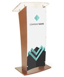 Customized Public Speaking Lectern for Universities